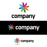 公司设计徽标模板 免版税库存图片
