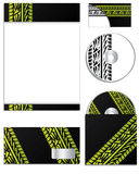 公司设计轮胎跟踪 库存照片