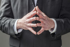 公司领导的肢体语言 库存图片