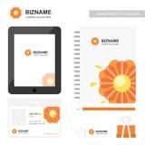 公司app屏幕设计并且与prfessional日志设计 向量例证