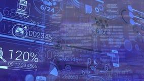 公司Infographic和财务数据关于蓝色背景 向量例证