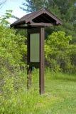公园信息标志 免版税图库摄影