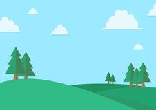 公园动画片场面 免版税库存图片