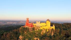 公园和贝纳,葡萄牙全国宫殿鸟瞰图  影视素材