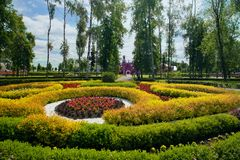 公园和道路向奥登堡的公主的宫殿 ramon 图库摄影