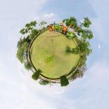 公园圈子全景  免版税库存照片