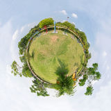 公园圈子全景  图库摄影