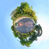 公园圈子全景  库存图片