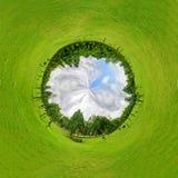 公园圈子全景  免版税图库摄影