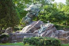 公园在伯尔尼,瑞士 免版税库存图片