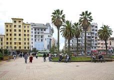 公园在卡萨布兰卡 闹事 摩洛哥 免版税库存照片