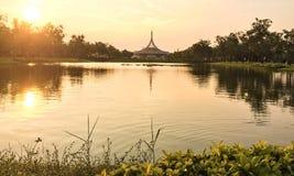 公园在城市 图库摄影