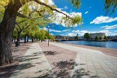 公园在斯德哥尔摩,瑞典,斯堪的那维亚,欧洲 免版税图库摄影