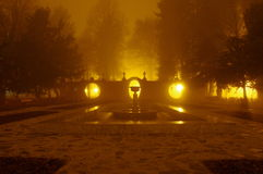 公园在晚上。 免版税库存照片