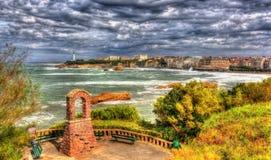 公园在比亚利兹-法国 免版税库存图片
