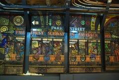 公园在波士顿地铁的街道驻地 库存图片