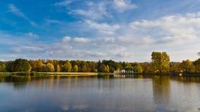 公园在涅斯维日白俄罗斯 免版税库存图片