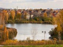 公园在蒙特利尔,魁北克 秋天 图库摄影