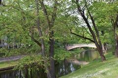 公园在里加,拉脱维亚 免版税图库摄影