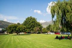 公园在Clarens,自由州,南非 免版税库存照片
