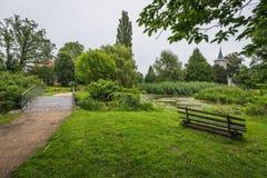公园在Schwedt奥得河 库存照片