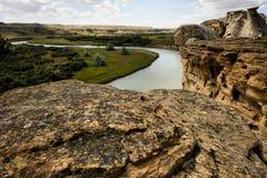 公园地方上的石文字 免版税库存图片