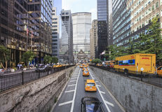 从公园大道的看法到盛大中央, NYC 免版税库存照片