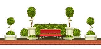 公园庭园花木 免版税库存图片