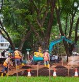 公园开发的工作 新加坡 免版税库存图片