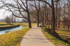 公园散步在Pozega 库存照片