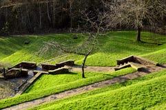 公园桥梁遗产中心庭院 库存照片