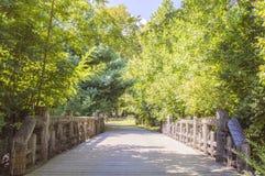公园桥梁 免版税库存照片