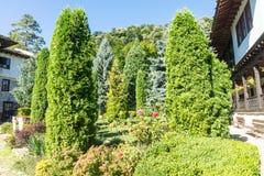 公园特罗扬修道院在保加利亚 免版税库存图片