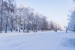 公园用俄语 免版税库存图片