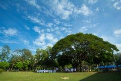 公园的北大年泰国亚洲泰国学生 图库摄影