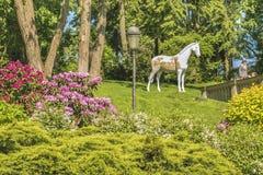 公园的片段在基辅附近的Mezhigirji 免版税库存照片