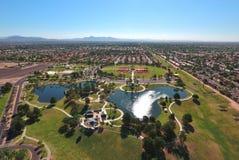 公园的鸟瞰图 免版税库存图片
