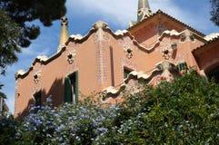 公园的Guell橙色议院 库存照片