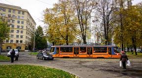 公园秋天在莫斯科,俄罗斯 库存图片