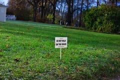 公园符号 免版税库存照片