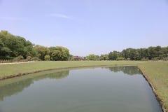 公园绿色在日本的冈山 免版税库存照片