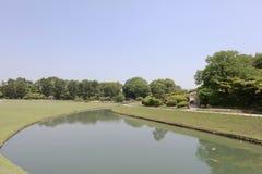 公园绿色在日本的冈山 免版税库存图片
