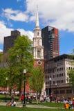 公园街道教会,波士顿,麻省 免版税库存照片
