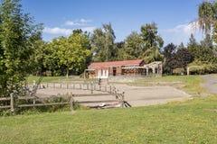 公园设施和海滩篱芭俄勒冈 免版税图库摄影