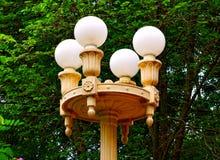 公园路灯柱 免版税库存照片