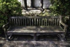 公园长椅在安特卫普 库存图片