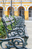 公园长椅连续 免版税库存图片