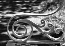 公园长椅细节 免版税库存照片