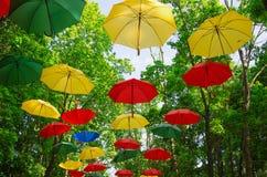 公园,伞 免版税库存照片