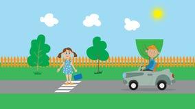 公园,汽车,孩子 库存图片